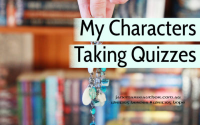 "My Characters Take ""What Character Am I?"" Quizzes!"